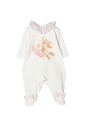 White romper with frontal press Monnalisa kids Monnalisa kids | 1491434083 | 356203S26020192C