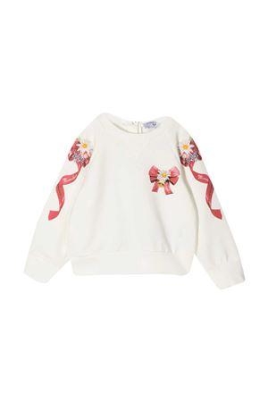 White sweatshirt baby Monnalisa  Monnalisa kids | -108764232 | 396615SX60010001
