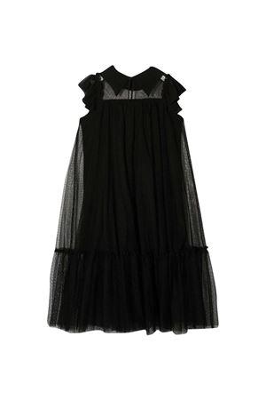 Black flared Monnalisa teen dress Monnalisa kids   11   49690160310050T