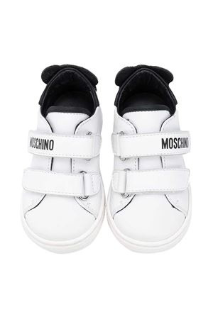 Moschino kids white sneakers MOSCHINO KIDS | 12 | 65578VAR1