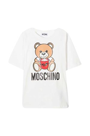 White t-shirt Moschino Kids  MOSCHINO KIDS | 5032307 | H6M029LBA1110063
