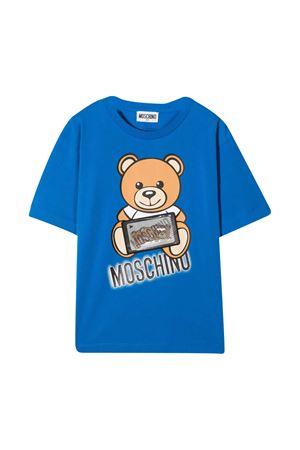 Moschino Kids blue t-shirt  MOSCHINO KIDS | 5032307 | H7M029LBA1240515