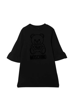 Abito teen nero con toy e logo Moschino kids MOSCHINO KIDS | 11 | HAV081LDA1760100T