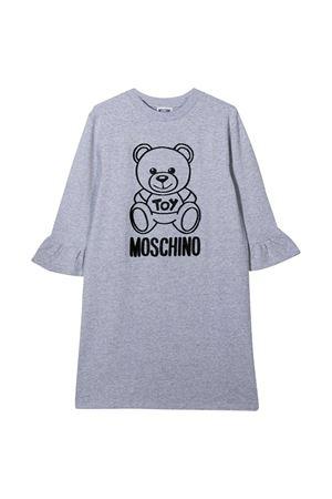Abito teen grigio con toy e logo neri Moschino kids MOSCHINO KIDS | 11 | HAV081LDA1760901T
