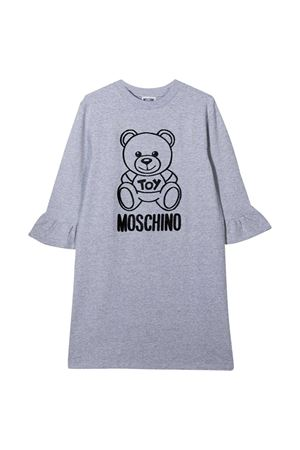 Grey teen dress with toy and logo Moschino kids MOSCHINO KIDS | 11 | HAV081LDA1760901T