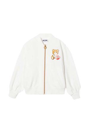 Moschino kids white sweatshirt  MOSCHINO KIDS | -108764232 | HDF02LLDA1610063