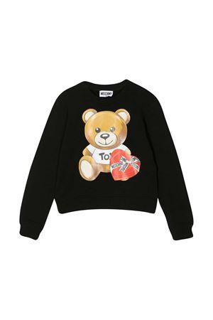 Black teen sweatshirt Moschino Kids  MOSCHINO KIDS | -108764232 | HDF02MLDA1660100T