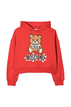 Red hoodie with frontal toy and logo press Moschino kids MOSCHINO KIDS   -108764232   HDF02PLDA1450109