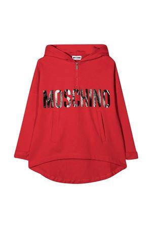 Red Moschino kids flared sweatshirt  MOSCHINO KIDS | 5032280 | HDF02SLDA1650584