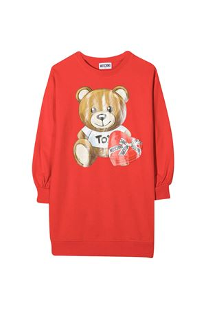 Red dress with frontal toy press Moschino kids MOSCHINO KIDS | 11 | HDV096LDA1650109