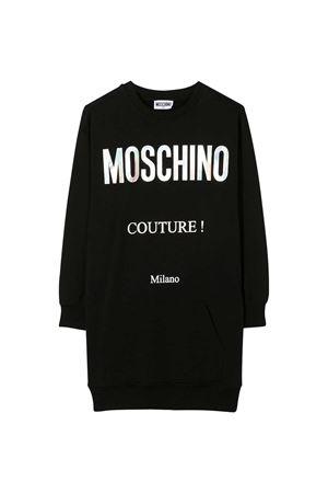 Abito nero con logo bianco Moschino kids MOSCHINO KIDS | 11 | HDV09ILDA1660100