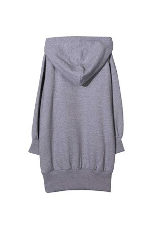 Grey dress with hood and black logo Moschino kids MOSCHINO KIDS | 11 | HDV09RLDA1660901