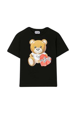 Black t-shirt Moschino kids MOSCHINO KIDS | 8 | HEM02TLBA1160100
