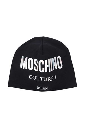 Black hat with silver logo Moschino kids MOSCHINO KIDS | 75988881 | HNX00ZLDA1660100