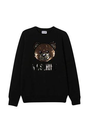 Black teen sweatshirt Moschino kids MOSCHINO KIDS | -108764232 | HRF039LDA1660100T