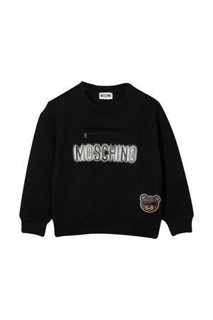 Black teen sweatshirt Moschino Kids  MOSCHINO KIDS | -108764232 | HUF041LCA2060100T