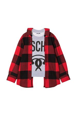 Multicolor sweatshirt with black logo Moschibo kids MOSCHINO KIDS | -108764232 | HUF04AN0Z0680462