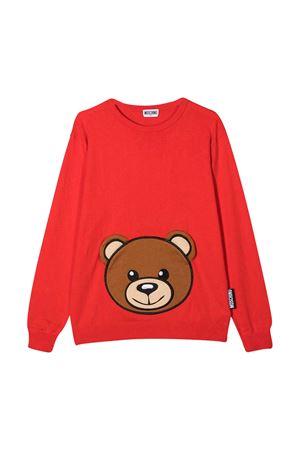 Red teen sweatshirt Moschino Kids MOSCHINO KIDS | 7 | HUW00JLHE0950109T