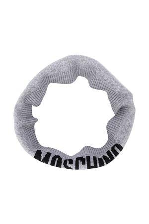Scaldacollo grigio con stampa logo Moschino kids MOSCHINO KIDS | -1756651779 | HUX018LHE1160901