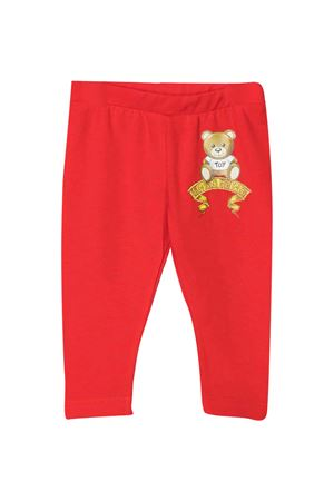 Moschino Kids red leggings  MOSCHINO KIDS | 411469946 | M1P02BLBA1150109
