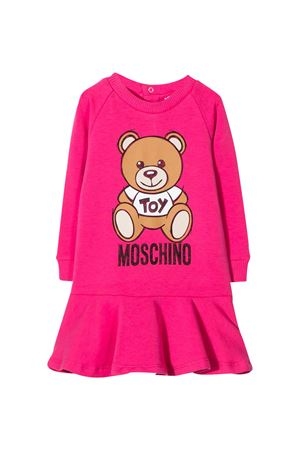 Fucsia dress with toy press Moschino kids MOSCHINO KIDS | 11 | MAV07MLDA1450569