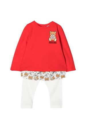 Two pieces set with red top Moschino kids MOSCHINO KIDS | 75988882 | MDK01MLBB4884209
