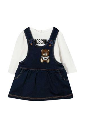 Moschino Kids Teddy Bear blue dress  MOSCHINO KIDS | 8 | MDK01QLDE0740016