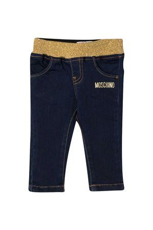 Blue jeans with frontal logo Moschino kids MOSCHINO KIDS | 9 | MDP02ILXE2440016