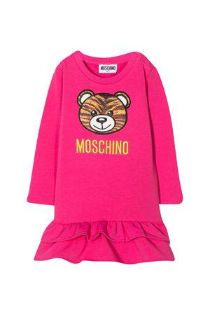 Fuchsia baby girl dress Moschino Kids MOSCHINO KIDS | 11 | MDV08ALDA1650569