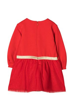 Red dress with logo and toy embroidery Moschino kids MOSCHINO KIDS | 11 | MDV08DLDA1650109