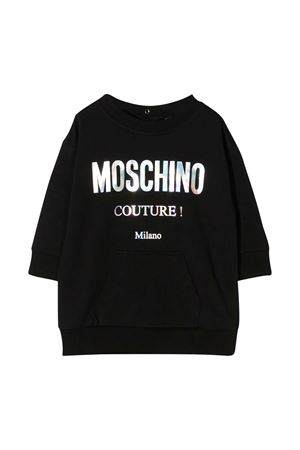 Black dress with white logo press Moschino kids MOSCHINO KIDS | 11 | MDV08MLDA1660100