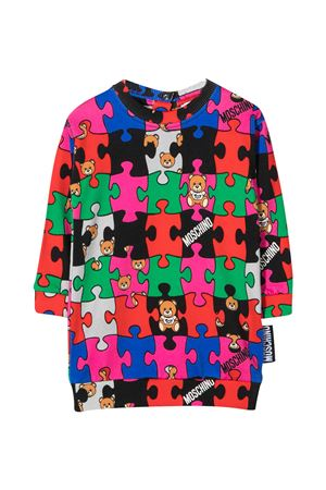 Multicolor all-over press dress Moschino kids MOSCHINO KIDS | 11 | MHV05TLCB0980964