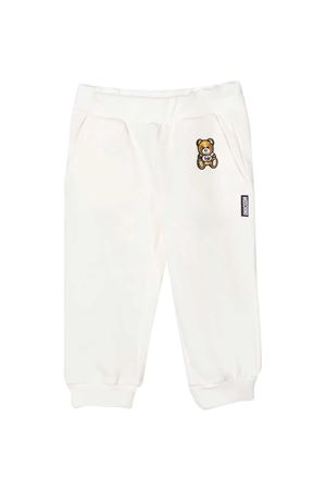 White sports trousers with toy Moschino kids MOSCHINO KIDS | 9 | MMP034LDA1710063