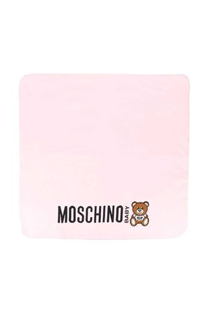 Pink blanket with toy press Moschino kids MOSCHINO KIDS | 69164127 | MNB005LDA1650209