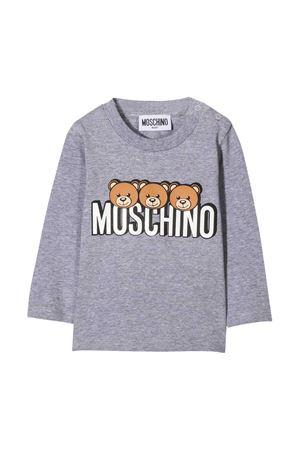 T-shirt grigia con stampa frontale toy Moschino kids MOSCHINO KIDS | 8 | MOO000LBA2460901