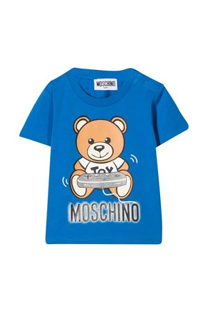 Teddy Bear blue t-shirt Moschino Kids MOSCHINO KIDS | 8 | MPM02ALBA1240515