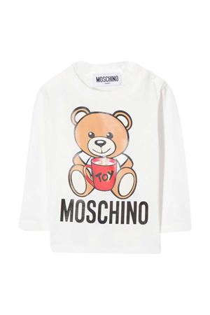 Newborn white sweatshirt Moschino kids MOSCHINO KIDS | 8 | MPO000LBA1110063