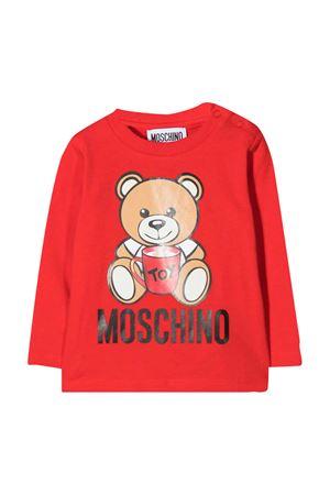 Newborn red sweatshirt Moschino kids MOSCHINO KIDS   8   MPO000LBA1150109