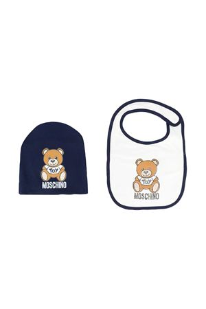 Moschino Kids blue hat and bib set MOSCHINO KIDS | 75988882 | MPY00XLDA1440016