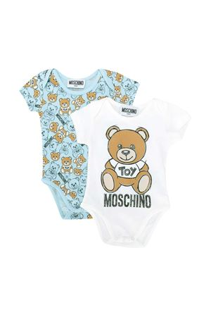 Romper with multicolor toy press Moschino kids MOSCHINO KIDS | 1491434083 | MQY017LAB1980006