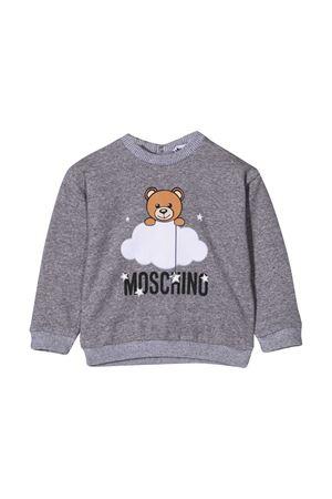Grey sweatshirt with toy and logo press Moschino kids MOSCHINO KIDS | -108764232 | MRF02ZLCE0060901