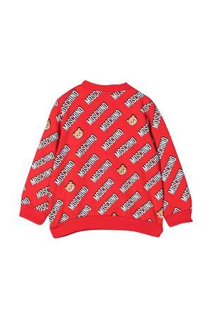 Red sweatshirt with logo press Moschino kids MOSCHINO KIDS | -108764232 | MRF03ELDB4583234