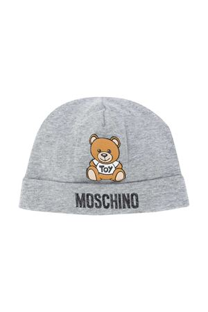 Grey round hat with toy press Moschino kids MOSCHINO KIDS | 75988881 | MRX031LDA1460901