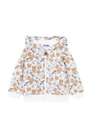 White hoodie with toy press Moschino kids MOSCHINO KIDS | -108764232 | MSF00QLDB4684582