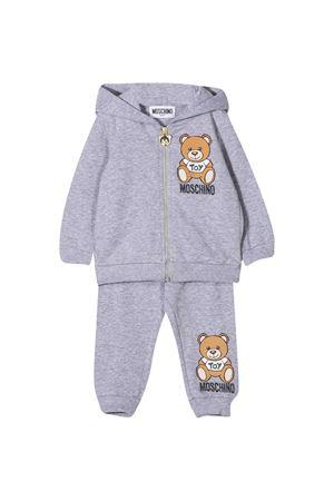 Newborn gray jumpsuit Moschino kids  MOSCHINO KIDS   -108764232   MSK00GLDA1460901