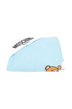 Blue squared blanket with toy Moschino kids MOSCHINO KIDS | 69164127 | MUB006LCE0080436