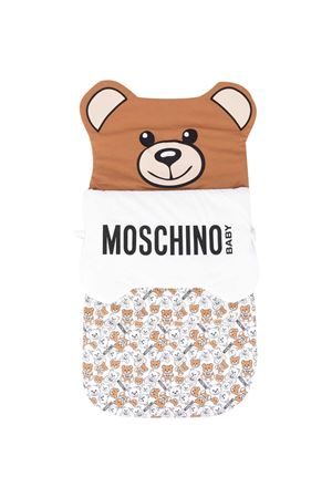 Padded multicolor Teddy bear shaped sleeping bag Moschino kids MOSCHINO KIDS | 1448880302 | MUE00CLDB4684582