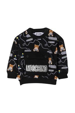 Black newborn sweatshirt Moschino Kids  MOSCHINO KIDS | -108764232 | MUF03BLDB4384449