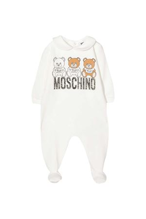White romper with frontal toy press Moschino kids MOSCHINO KIDS | 1491434083 | MUT01OLDA1410063