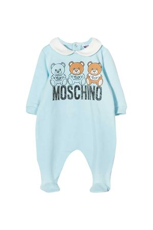 Blue romper with frontal toy press Moschino kids MOSCHINO KIDS | 1491434083 | MUT01OLDA1440304